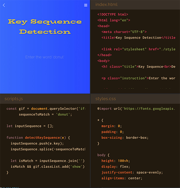 Key Sequence Detection