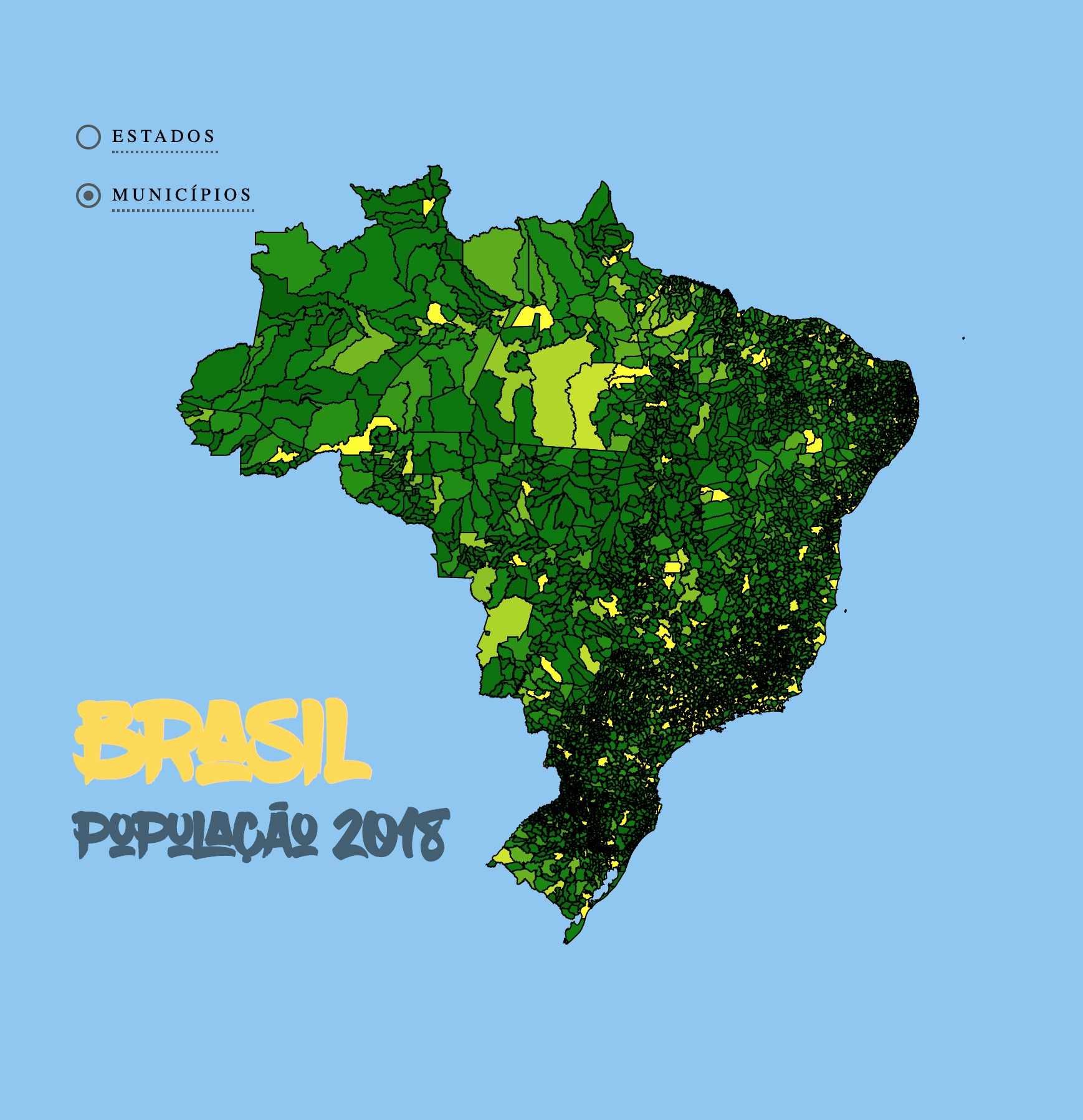 Brazil Population Choropleth
