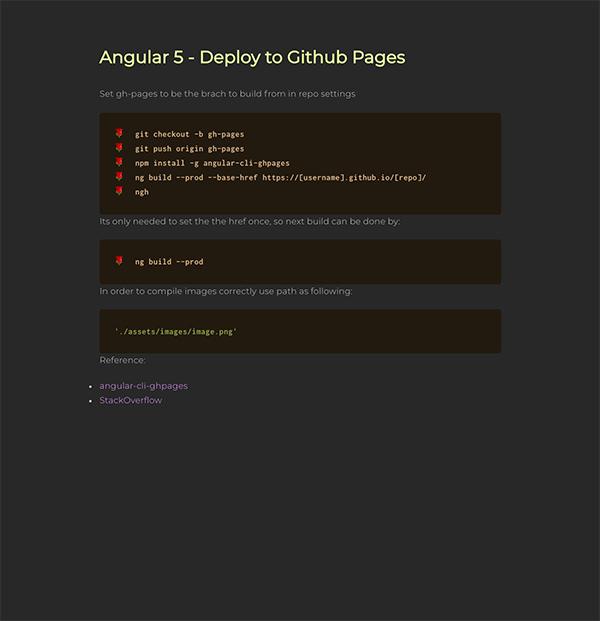 Angular 5 - Deploy to Github Pages