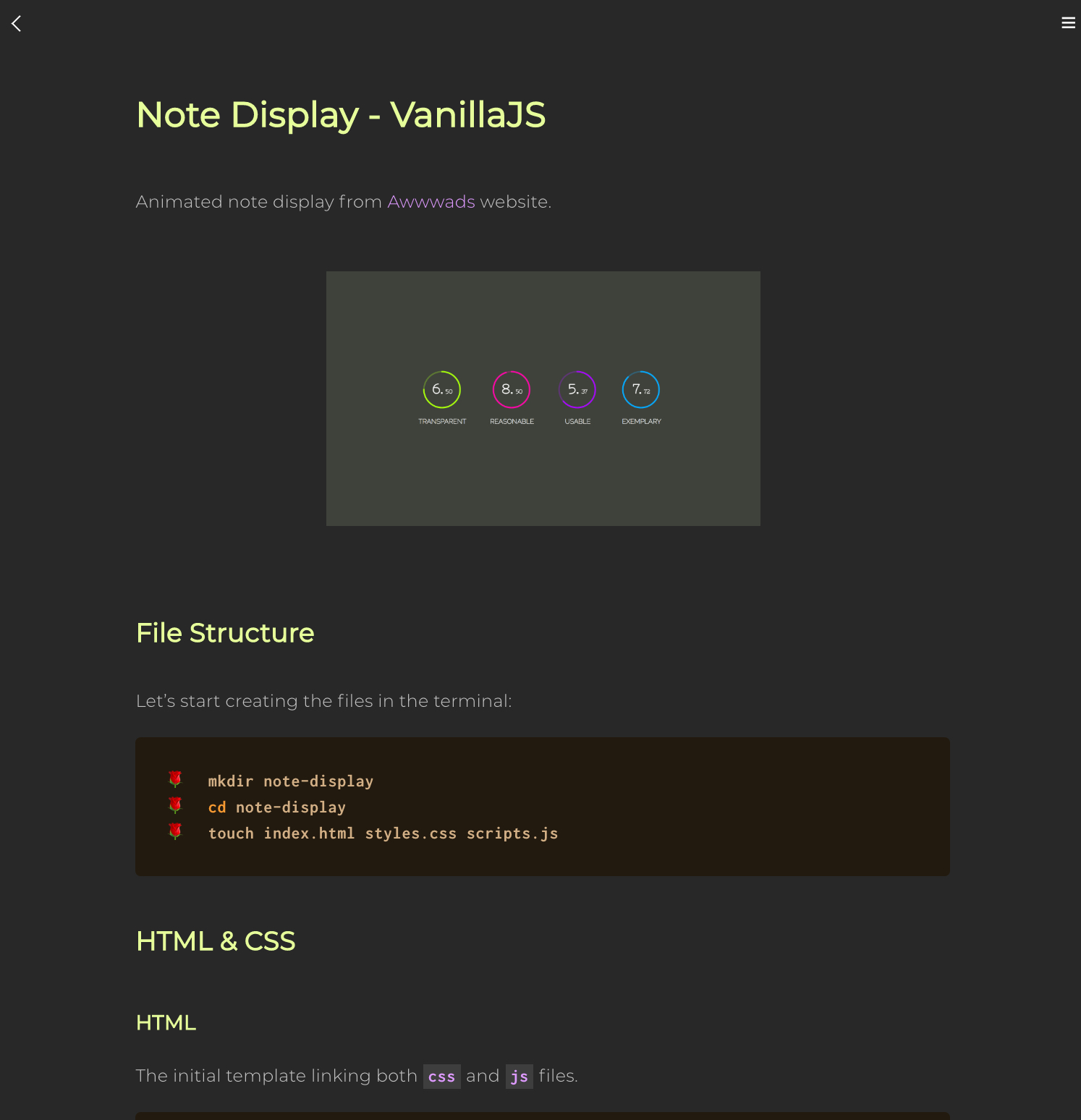Note Display - HTML5 SVG Fill Animation with CSS3 and Vanilla JavaScript